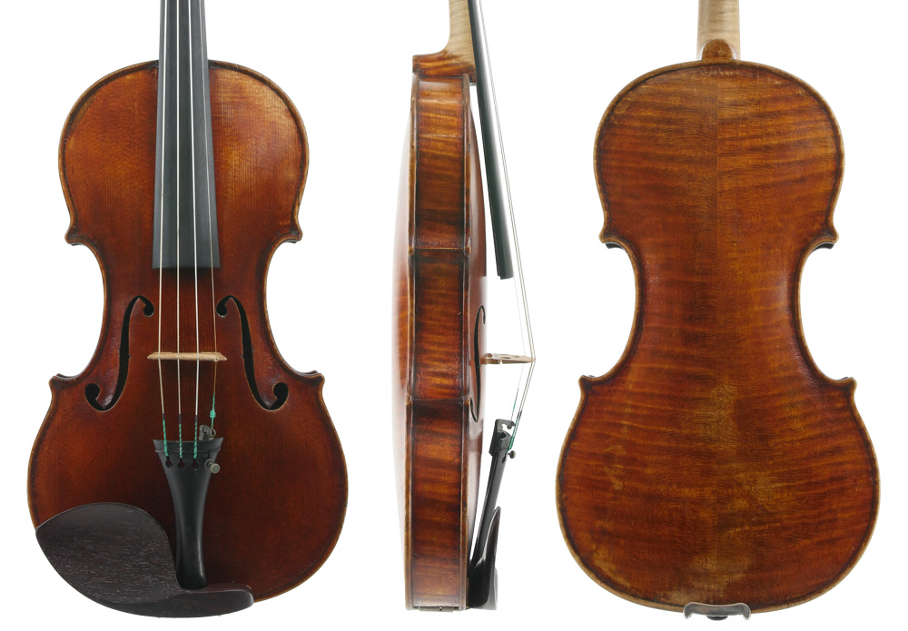 A Smith violin from 1915, soon after he had settled in Sydney. Photos courtesy Sydney String Centre
