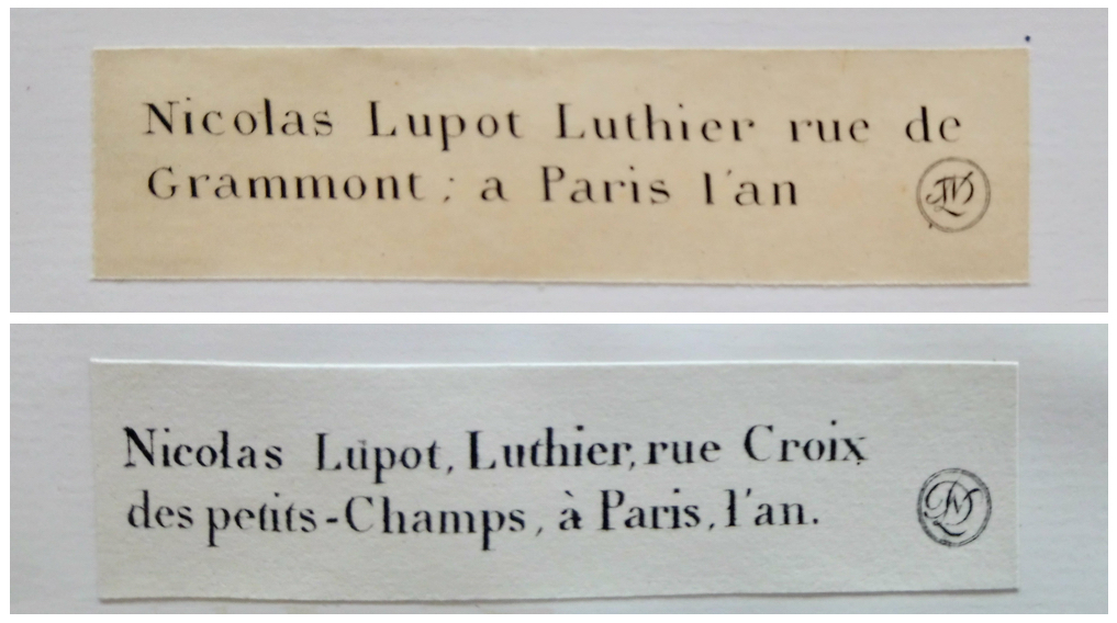 Lupot labels Paris