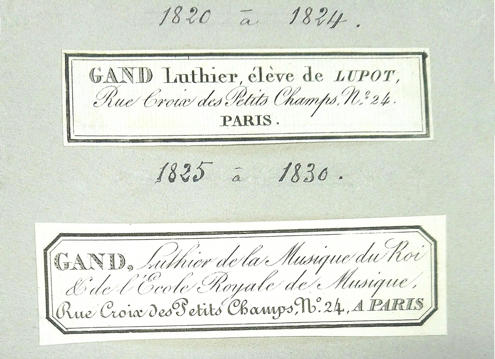 Gand labels 1820–1830