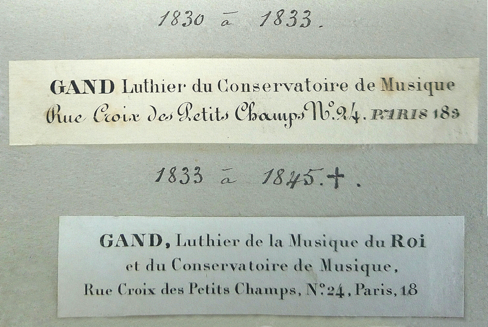 Gand labels 1830–1845