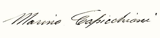 Marino Capicchioni signature