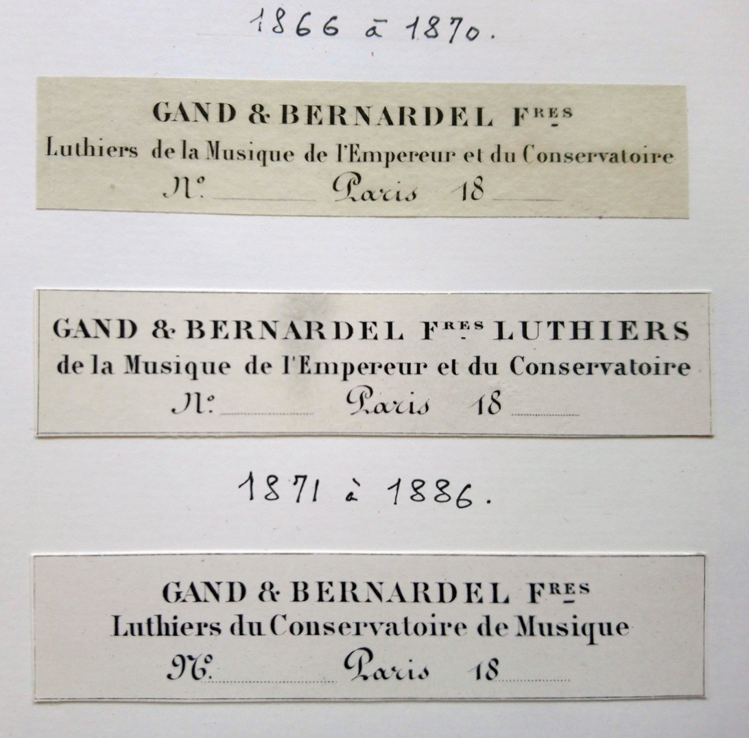 Gand and Bernardel firm labels