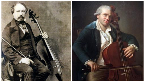 French cellists Servais and Duport