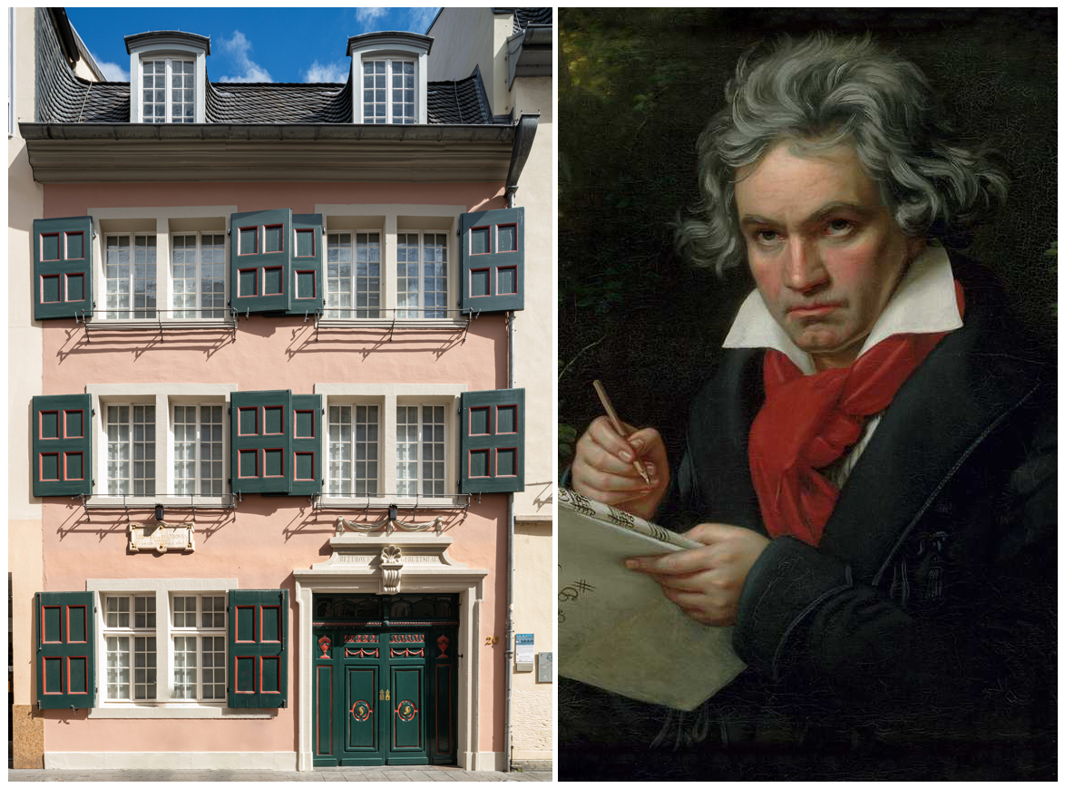 Beethoven with Missa solemnis Ölgemälde, 1819