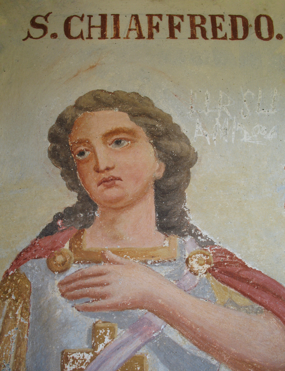 Fresco of San Chiaffredo