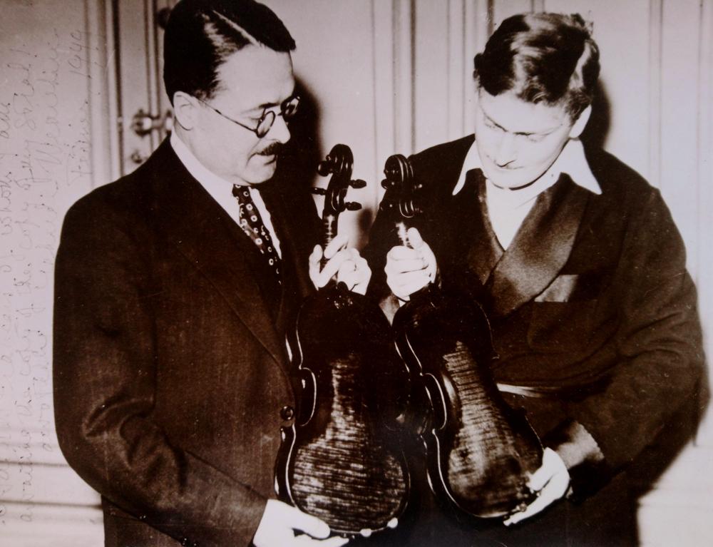 Yehudi Menuhin and Emile Francais