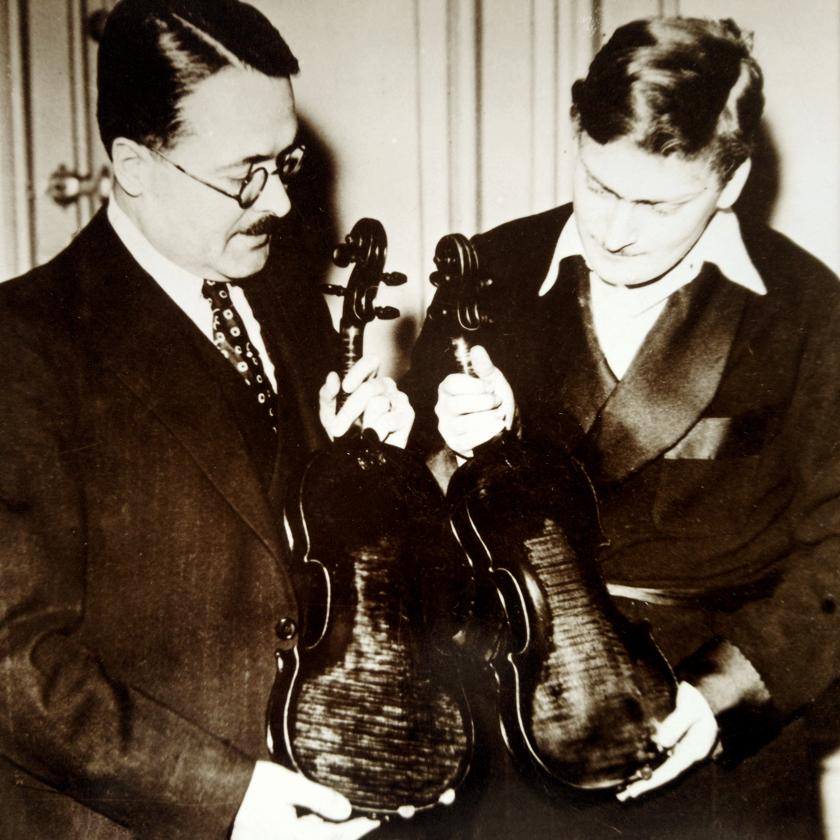 Emile Francais and Yehudi Menuhin