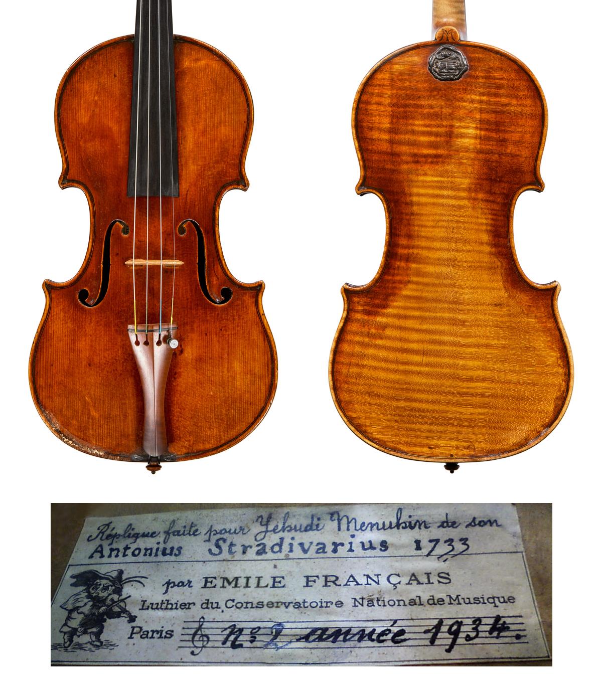Emile Français copy of Menuhin Strad