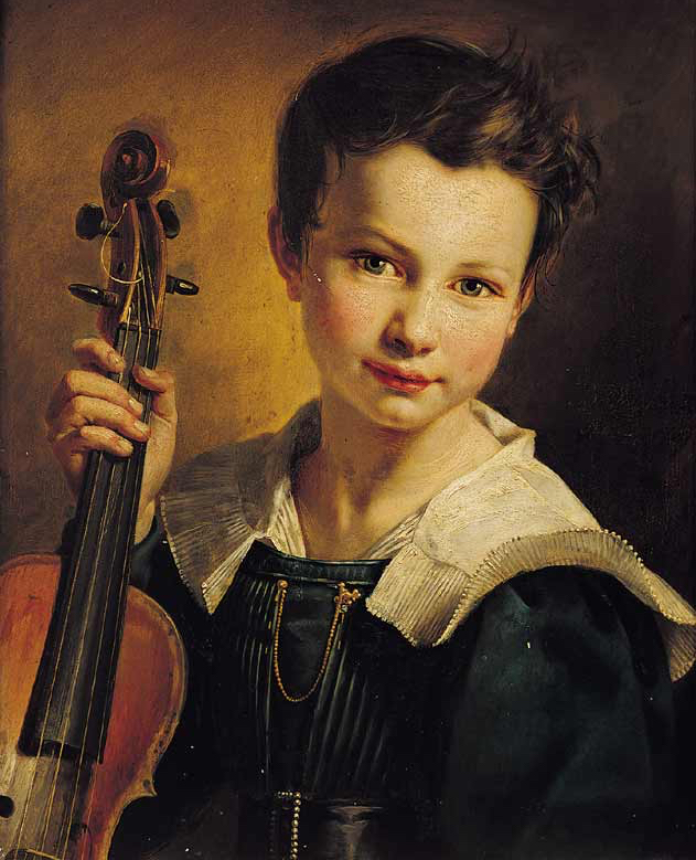 Portrait of Vieuxtemps in 1828