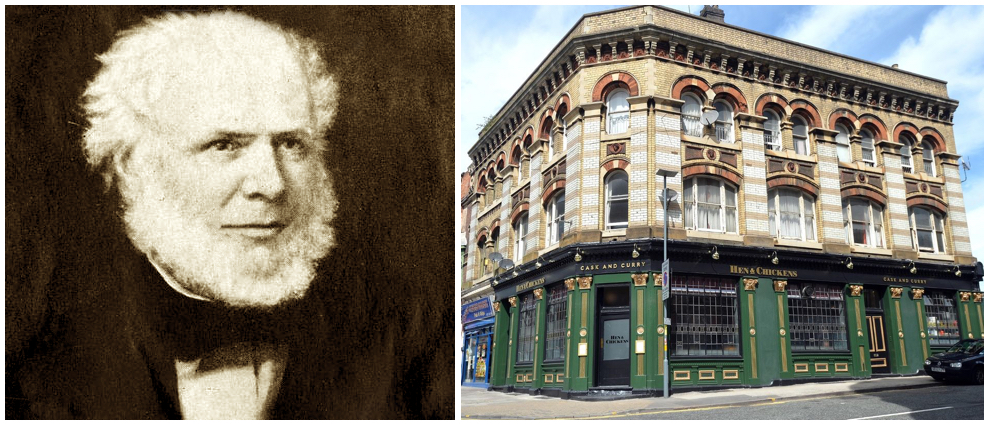 Joseph Gillott and his favourite pub the Hen and Chickens