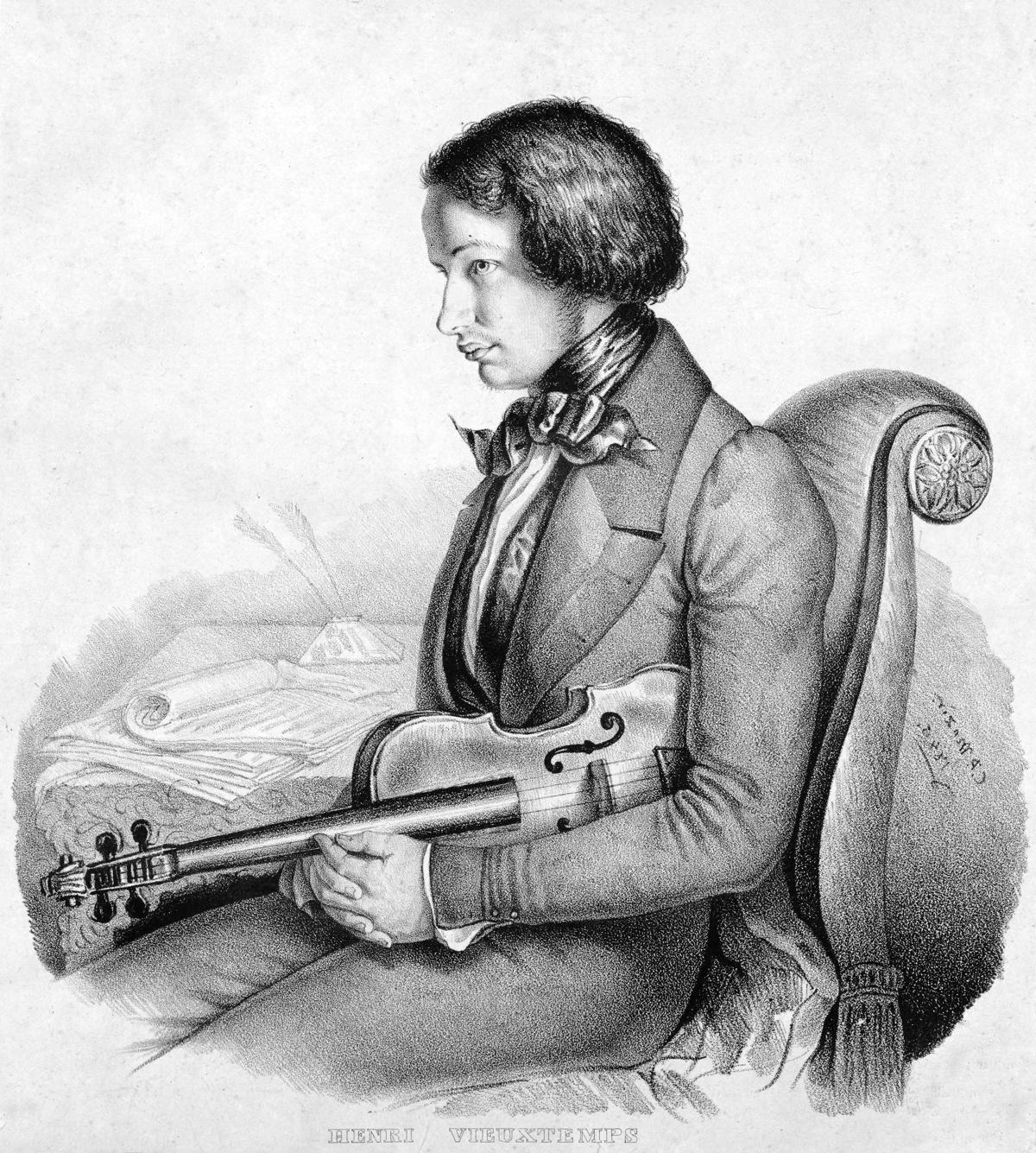 Portrait of Henri Vieuxtemps in 1846