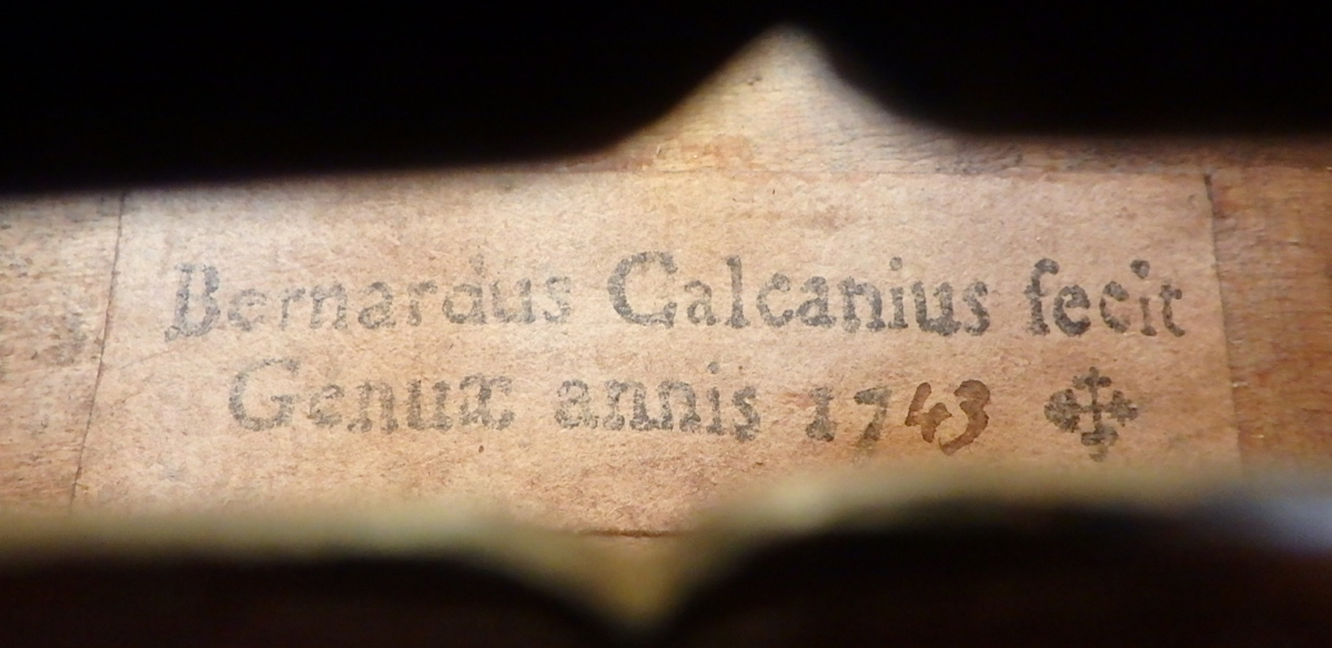Calcagno violin label 1743