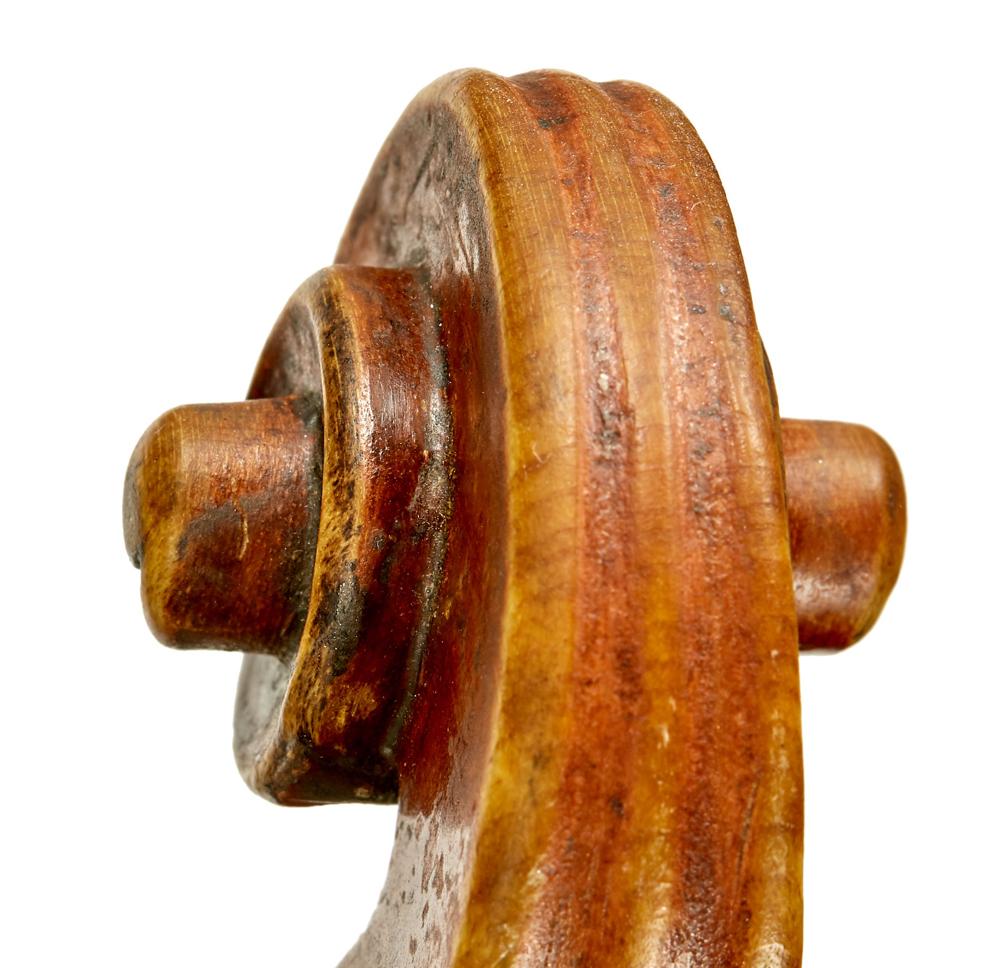 Scroll of Calcagno violin