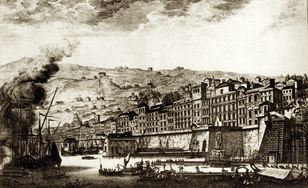 Genoa engraving from 1769