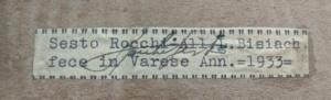 Rocchi violin label
