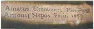 label in the 1649 'Alard'