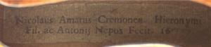 Nicolo Amati label