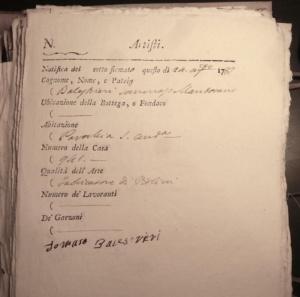Balestrieri document