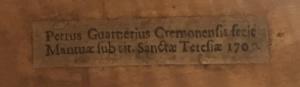 Guarneri's label after 1700