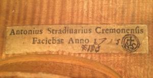 1725 'Portuguese' Stradivari