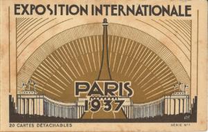 carte postale 1937 expo