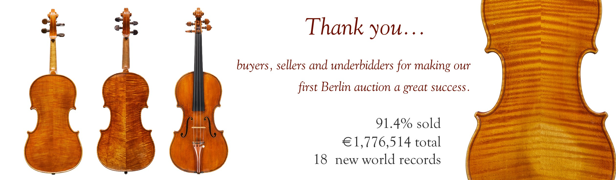 Results of the October Berlin sale