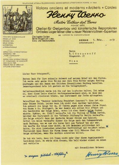 Werro letter Ladenburg