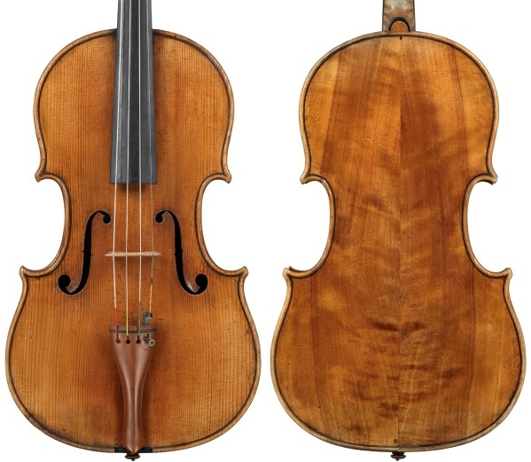 Strad Mahler viola back and front