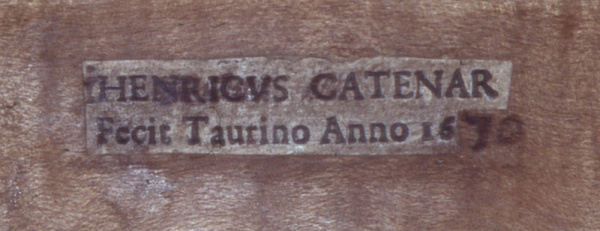 Catenar 1670 violin label