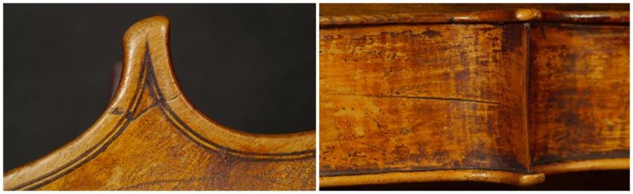 Catenar 1661 viola, corner details
