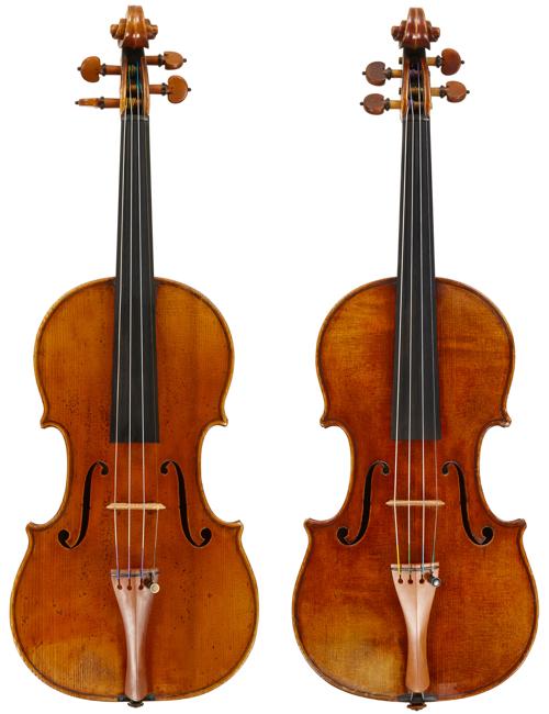 Pressenda violins 1838 and 1827