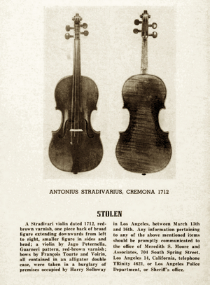 Advert from a 1953 issue of Violins & Violinists