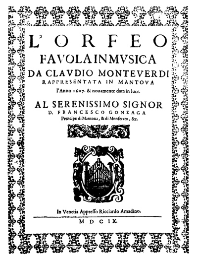 Frontispiece to L'Orfeo