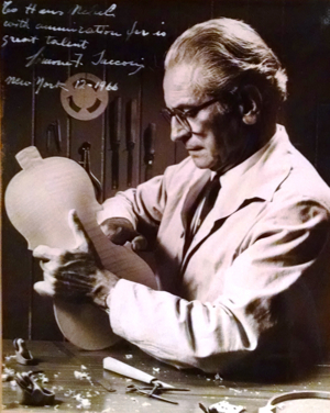 An inscribed photo given by Sacconi to his colleague Hans Nebel in 1966