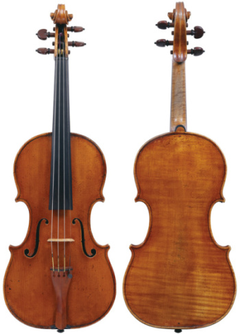 The 'Grumiaux, Campoli' Guadagnini of 1773. Photos: Tucker Densley, courtesy of The Strad