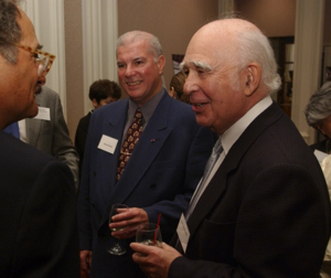 Silverstein (right) and Oliveira in 2003. Photo: The Milken Family Foundation, courtesy of the Milken Archive of Jewish Music