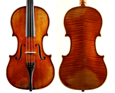 Gulbrand Enger violin, made in Copenhagen 1870 – a copy of the 1714 Yoldi-Moldenhauer Stradivari violin owned by the Royal Danish Opera Orchestra