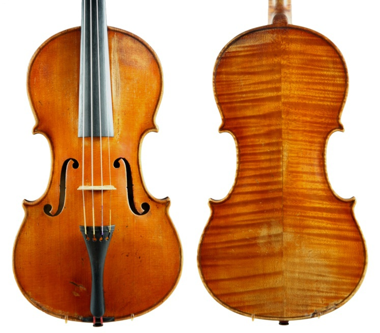 A violin made by Hans Poulsen, Copenhagen