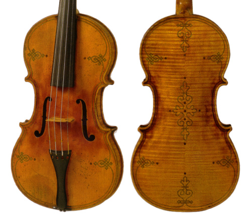 Thomas Jacobsen violin made in Copenhagen, 1848
