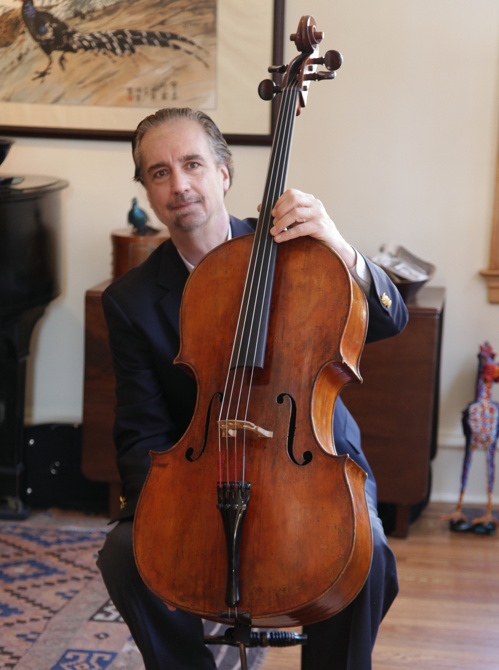 David Finckel with his Guadagnini cello