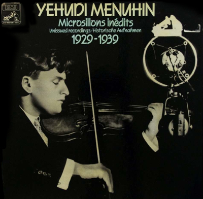 Menuhin recorded with Balsam 1920s
