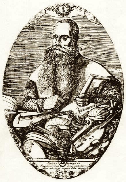 Caspar Tieffenbrucker engraving by Pierre Woeriot de Bouzey, 1548