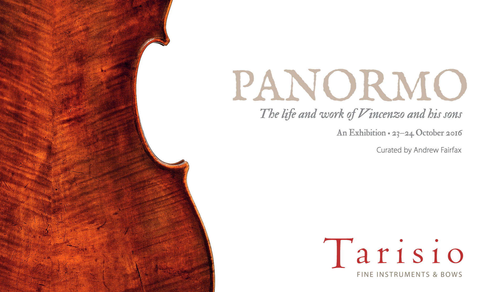 Panormo Exhibition Tarisio