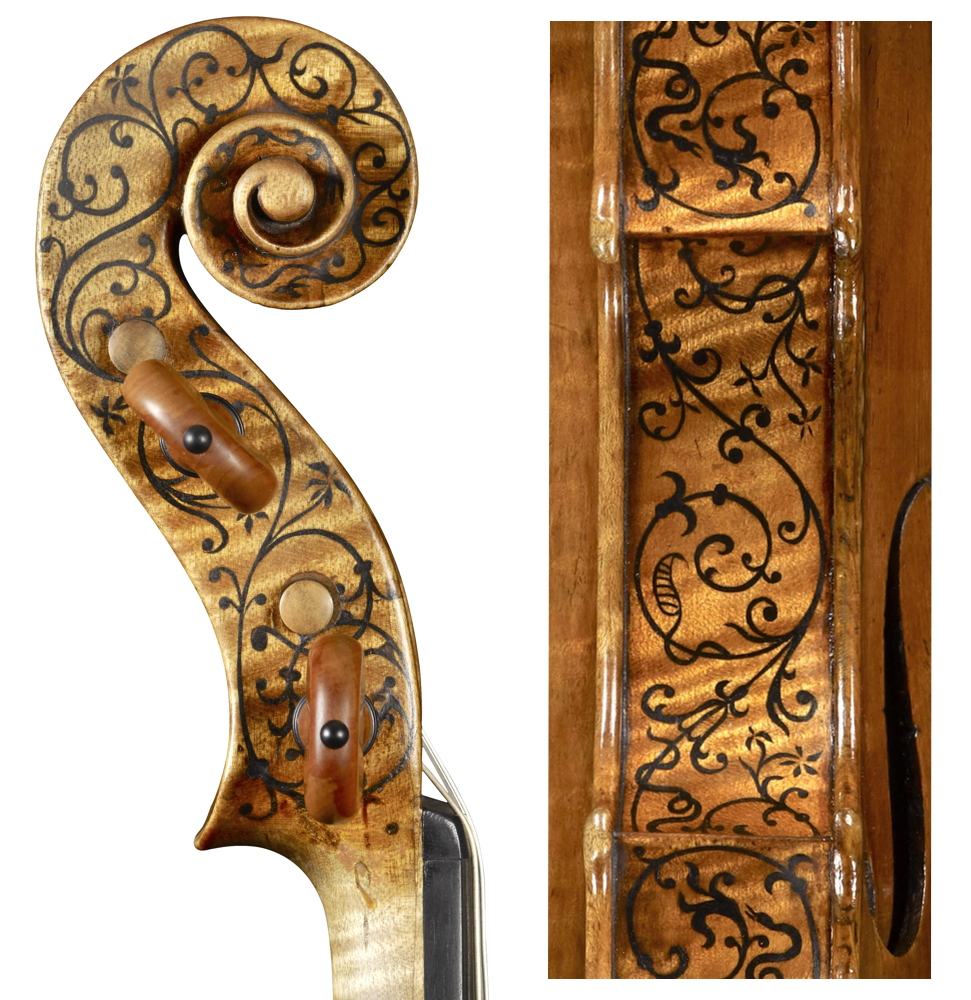 The 'Sunrise' Stradivari shows Stradivari's early mastery of fine inlay.