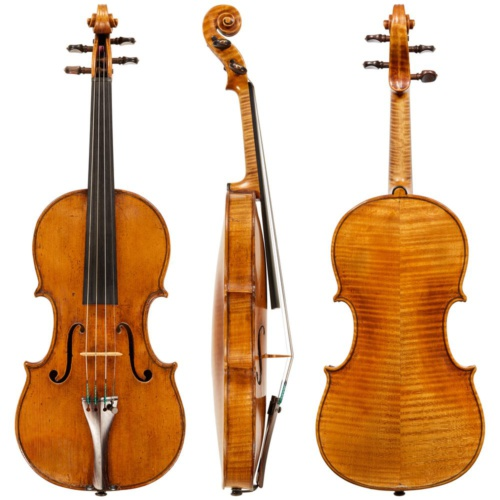 Attractively flamed maple and excellent quality spruce make this violin one of the best examples of early Bolognese violinmaking.