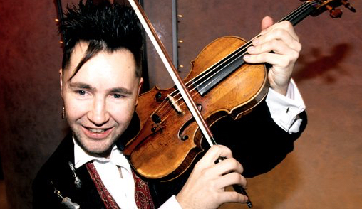 Nigel Kennedy, pictured a few years after the Stradivari Trust bought the 'Cathedral' Stradivari for him